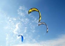 Colofull kites in blue sky Stock Image