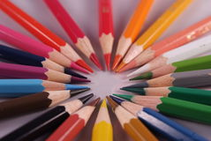 Colofull pencil. Colorfull pencil isolated in a white background Stock Image