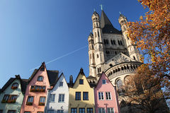 Cologne. Old and colorful houses in the city of Cologne, Germany during autumn season Royalty Free Stock Images