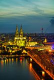 Cologne aerial overview stock photography
