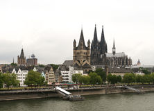 Cologne aerial view Stock Images