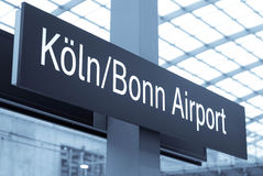 Cologne airport Stock Photography