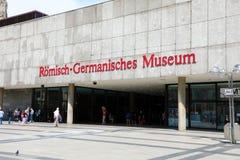 COLOGNE, ALLEMAGNE - 31 MAI 2018 : entrée de musée Romano-germanique de Römisch-Germanisches de musée à Cologne, Allemagne images libres de droits