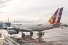 COLOGNE, ALLEMAGNE - 12 MAI 2014 : Germanwings Airbus A319-300 à Photographie stock