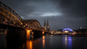 Cologne. Amazing bridge in Cologne, Germany Stock Images