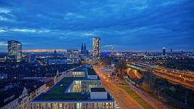 Cologne au crépuscule, Cologne, Allemagne Photo stock