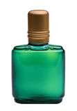 Cologne bottle. A close up of a green cologne bottle stock image