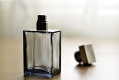 Cologne bottle. A view with a bottle of perfume royalty free stock image