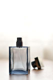 Cologne bottle. A view with a bottle of perfume royalty free stock images