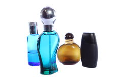 Cologne Bottles Stock Photography