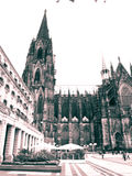 Cologne cathedral. Germany, in sepia Stock Images