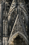 Cologne Cathedral. A detail of the main gothic facade of the Cologne Cathedral in Cologne, Germany Stock Image