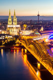Cologne Cathedral aerial Royalty Free Stock Images