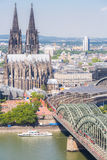 Cologne Cathedral aerial Royalty Free Stock Photography