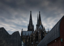 Cologne Cathedral against the sky in Germany Stock Photos