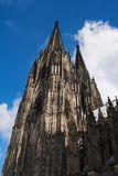 Cologne Cathedral on blue sky background, Germany Royalty Free Stock Images