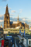 Cologne Cathedral with buildings of the city Royalty Free Stock Photo