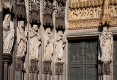 Cologne Cathedral - Detail. Detail of the Facade of the Cathedral in Cologne (Köln), Germany Royalty Free Stock Photo