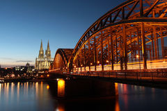 Cologne Cathedral at dusk Stock Photography
