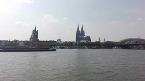 Cologne cathedral stock video footage