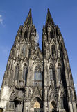 Cologne Cathedral Germany Front. Front view  of the Cologne, Germany gothic cathedral Stock Photo