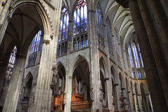 Cologne Cathedral Germany Inside. Inside shot of the Cologne, Germany  Cathedral Royalty Free Stock Photo