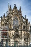 Cologne Cathedral, Germany. Cologne Cathedral is a Roman Catholic cathedral in Cologne, Germany. view from the south Royalty Free Stock Photos