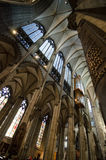 Cologne Cathedral. COLOGNE, GERMANY - SEPTEMBER 24: Interior of cathedral, in September 24, 2013 in Cologne, Germany. The Cathedral is Germany's most visited Stock Photo
