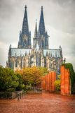 Cologne Cathedral, Germany. View on Cologne Cathedral at rainy day, Germany Stock Photo