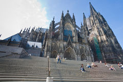 Cologne Cathedral, Gernany. COLOGNE, GERMANY -JUNE 27: Cologne Cathedral. It is Germany's most visited landmark, attracting an average of 20,000 people a day, in Stock Images
