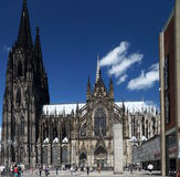 Cologne Cathedral. (High Cathedral of St. Peter) is a Roman Catholic Church in Cologne, Germany. It is the seat of the Archbishop of Cologne and the royalty free stock images