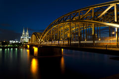 Cologne Cathedral with Hohenzollernbridge Royalty Free Stock Photography