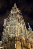 Cologne cathedral with illumination at night Royalty Free Stock Images