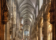 Cologne Cathedral Interior Vault Stock Photos