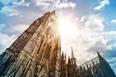 Cologne Cathedral. (Kölner Dom) in the morning sun, Cologne, Germany Royalty Free Stock Photos