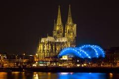 Cologne Cathedral (Kolner Dom) on Christmas eve at dusk Stock Image