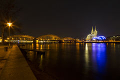 Cologne Cathedral (Kolner Dom) on Christmas eve at dusk Royalty Free Stock Photography