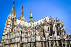 The cologne cathedral. Is a landmark of Germany Royalty Free Stock Photos