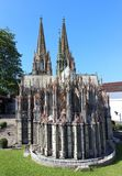 Cologne Cathedral in miniature park royalty free stock photography