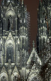 Cologne Cathedral In The Night stock image