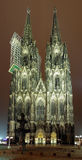 Cologne Cathedral at night, Germany Stock Photography