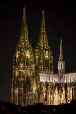 Cologne Cathedral at Night Stock Photography