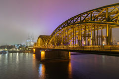 Cologne cathedral at night Royalty Free Stock Image