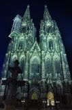 Cologne cathedral. At night scene Royalty Free Stock Photos