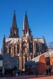 Cologne Cathedral. It ranked third in the list of the highest churches in the world and is listed World Heritage sites. Cologne Cathedral. Built in the Roman Royalty Free Stock Images