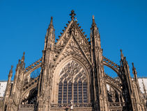 Cologne Cathedral. It ranked third in the list of the highest churches in the world and is listed World Heritage sites. Cologne Cathedral. Built in the Roman Royalty Free Stock Photography