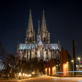 Cologne Cathedral. It ranked third in the list of the highest churches in the world and is listed World Heritage sites. Cologne Cathedral. Built in the Roman Royalty Free Stock Photo