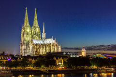 Cologne Cathedral River Rhine Royalty Free Stock Image