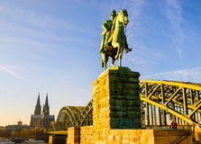 Cologne Cathedral and river Rhine Stock Photography
