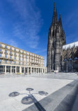 Cologne Cathedral And Shadow, Germany Royalty Free Stock Photo